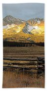 Sunrise On Sawtooth Mountains Idaho Beach Towel