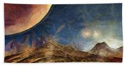 Sunrise On Space Beach Towel