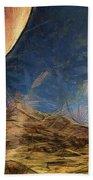 Sunrise On Space Beach Towel