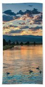 Sunrise On The North Payette River Beach Sheet