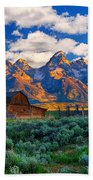 Sunrise On The Tetons Limited Edition Beach Sheet