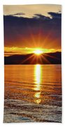 Sunrise On Yellowstone Lake Beach Towel