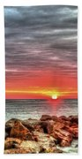 Sunrise Over Breech Inlet On Sullivan's Island Sc Beach Towel