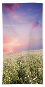 Sunrise Over Flower Land Beach Sheet