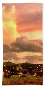 Sunrise Over Strawberry Estate - Horizontal Beach Towel