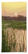 Sunrise Over The Marsh Beach Towel