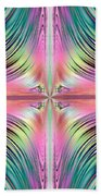 Sunrise Over The Waterfalls Fractal Beach Towel