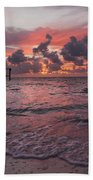 Sunrise Panoramic Beach Towel by Adam Romanowicz