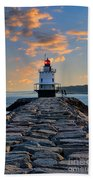 Sunrise Spring Point Ledge Beach Towel