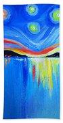 Sunrise At The Lake - Van Gogh Style Beach Sheet