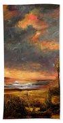 Sunrise With Birds  Beach Towel