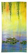 Sunrise With Water Lilies Beach Towel