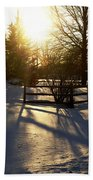 Sunset After The Snow Storm Beach Towel