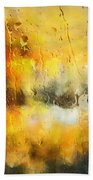 Sunset After The Storm Abstract Beach Towel