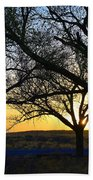 Sunset And Trees Beach Towel