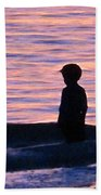 Sunset Art - Contemplation Beach Towel