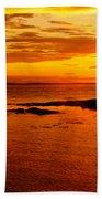 Sunset At Bic Beach Towel