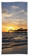 Sunset At Clearwater Beach Towel
