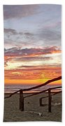 Sunset At Las Glorias Over Sea Of Cortez-sinaloa Beach Towel