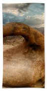 Sunset At Mobius Arch Beach Towel