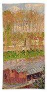 Sunset At Moret Sur Loing Beach Towel