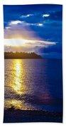 Sunset At Parksville Beach Beach Towel