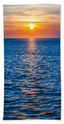 Sunset At Sea With Multiple Color Prizm Beach Towel