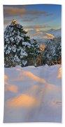 Sunset At Sierra Nevada Beach Towel