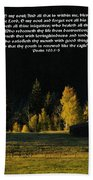 Sunset At The Cabin With Scripture Beach Towel