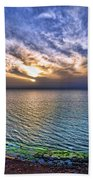 Sunset At The Cliff Beach Beach Towel by Ron Shoshani