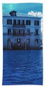 Sunset At The Hotel Canal Grande Venice Italy Near Infrared Blue Beach Towel