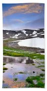 Sunset At The Lake At 3000 M. Hight Beach Towel