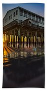 Sunset At The Pier Beach Towel