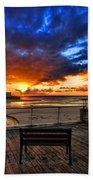 sunset at the port of Tel Aviv Beach Sheet