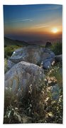 Sunset At The Windy Mountains Beach Towel