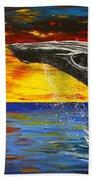 Sunset Breach Beach Towel