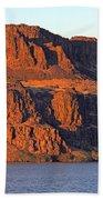 Sunset Cliffs At Horsethief  Beach Towel by Talya Johnson