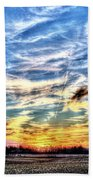 Sunset Clouds Beach Towel