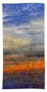 Sunset Field Beach Towel
