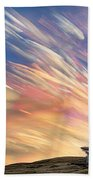 Sunset From Another Planet  Beach Towel