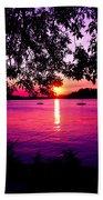 Sunset From Point Fosdick Gig Harbor Washington Beach Towel