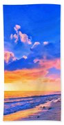Sunset Glow On The Kona Coast Beach Towel