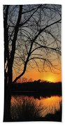 Sunset Glow Toms River New Jersey Beach Towel