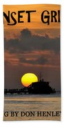 Sunset Grill Don Henley 1984 Beach Towel