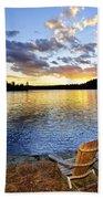 Sunset In Algonquin Park Beach Towel