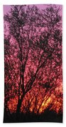 Sunset In April- Silute Lithuania Beach Towel