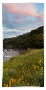 Sunset In Cobb Valley Of Kahurangi Np Of New Zealand Beach Towel