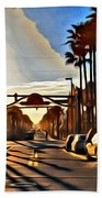 Sunset In Daytona Beach Beach Towel