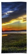 Sunset In Delaware Beach Towel