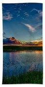 Sunset In Montana Beach Towel